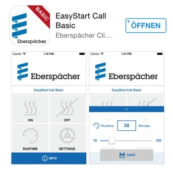 Bedienelement: EasyStart Call