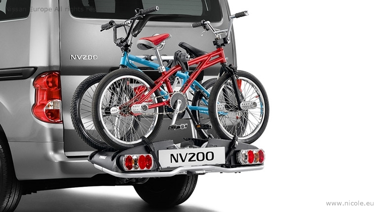 Fahrrad-Heckträger für 2 Räder, mit 13pol. E-Satz
