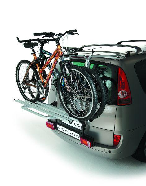 Fahrrad-Heckträger für Fahrzeuge mit org. Dachträger